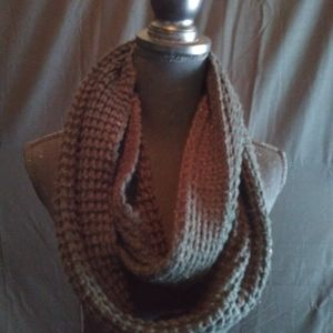 TARGET infinity black knitted scarf